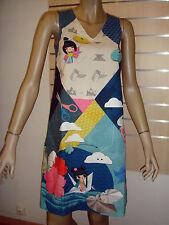 "ANATOPIK robe CHARLENE ""origami"" bleu T36 neuve 135 € Automne/Hiver 2015/2016"