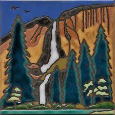 Ceramic Tile Yosemite Falls hot plate wall decor installation backsplash mural