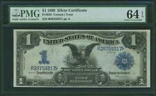 1899 $1 SILVER CERTIFICATE BLACK EAGLE FR228 PMG CERTIFIED UNCIRCULATED-64EPQ
