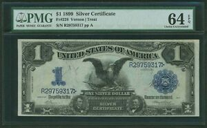 1899 $1 SILVER CERTIFICATE BLACK EAGLE FR228 PMG CERTIFIED UNCIRCULATED-64EPQ