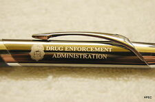 US DEA gunmetal colored Agency pen DEA FBI CIA SECRET SERVICE MARSHAL NSA DOJ