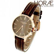 Orologio da polso donna Locman 1960 0253R04R-RRBNRGPN pelle Marrone Pvd oro