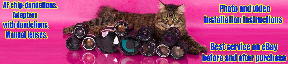 Chip Dandelion, adapters, lenses.