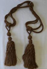 1 paire d'embrasse de rideau avec pompons Passementerie couleur crème Ancienne
