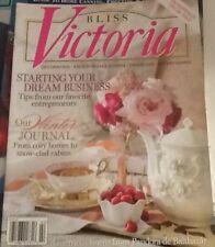 Bliss Victoria Magazine Decorating Entertaining Travel Jan/Feb 2015 Issue