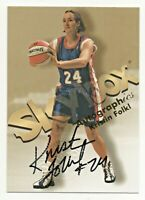 1999 Hoops WNBA Authentic Original Autograph Kristin Folkl Minnesota Lynx