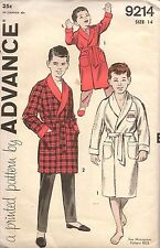 1950s Advance Sewing Pattern 9214 Boys Dressing Gown Size 14