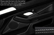 Costura Blanco 2X Tarjeta de puerta frontal adorno de piel cubierta para BMW 5 Series E39 95-03