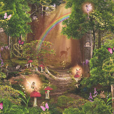 Mágico Jardín DISNEY ESTILO ENCANTAMIENTO Bosque Papel pintado para niños 696009