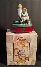 "Nib ""Football Hero"" Norman Rockwell San Francisco Music Box Co. Music Box"