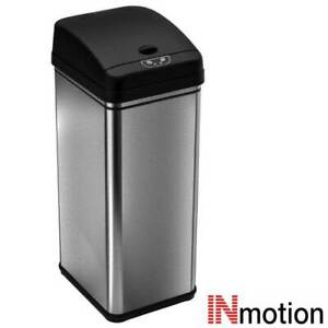 Inmotion 58L Brushed Stainless Steel Automatic Sensor Kitchen Waste Dust Bin