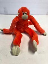 "12"" Monkey Orange Hanging Fiesta Plush Stuffed Toy T"