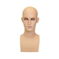Adult Mens Realistic Fiberglass Mannequin Head Display