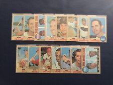 1968 Topps Baseball 15-Card Lot. Reds Rookie Stars Henry/McRae # 384.