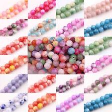 Glass Persia Jade Round Loose Beads Spacer Handmade Crafts Jewelry Making diy