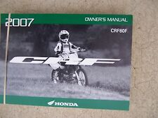 2007 Honda CRF80F Off Road Motorcycle Owner Manual  MORE MANUALS IN STORE   S