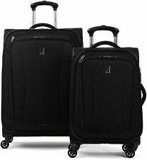 "Travelpro TourGo 20"" and 25"" Softside Spinner Luggage Set - Black - TP8029W2A01"