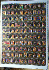 2008/09 Upper Deck MVP Kobe Bryant 100 Card Set Uncut Sheet