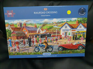 Gibsons G4046 Railroad Crossing by Derek Roberts 636 pce jigsaw puzzle