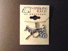 Standardbred Trotter Pendant Necklace - Silver-tone - New