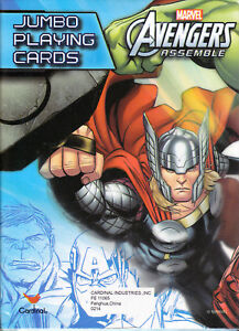 Cards Jumbo Marvel AVENGERS ASSEMBLE - THOR Playing Deck NEW