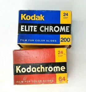 Kodak Elite Chrome 200 and Kodachrome 64 - 35mm 24 exp color slide expired film