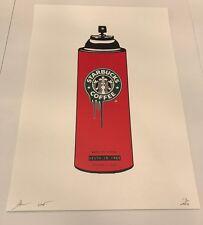 Starbucks Spray Can print by DEATH NYC Ltd Ed Shepard Fairey Brainwash Whatson