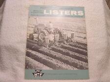 MASSEY-FERGUSON MF 61 66 LISTERS sales brochure