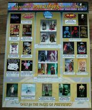 Previews 1/2004 Batman Joker Elektra Emma Frost Harley Quinn PROMO Poster VF