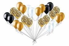 24 pc Leopard safari Inspired Latex Balloons Jungle gold Wild animals party