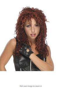 Auburn/Red Women's Curly Rocker Wig