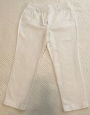 Chico's So Slimming White Crop Cuffed Pants Size 0