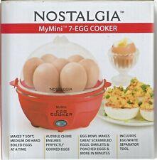Nostalgia Mymini 7-Egg Cooker  Red Color- NEW