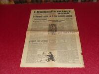"""[PRESSE WW2 39-45] """"L'HUMANITE"""" # 228 / 6 MAI 1945 Wehrmacht capitule / CNR"""