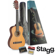 Stagg C510 1/2-size nylon string classical guitar + accessories package NATURAL