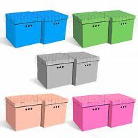 STYLISH 2pcs Decorative Storage BOXES IKEA Home Office WARDROBE Organiser CUBE!