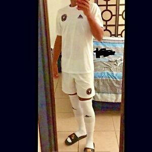 Rare Adidas FC Miami Club Soccer Shorts Silky White Black Pink Medium