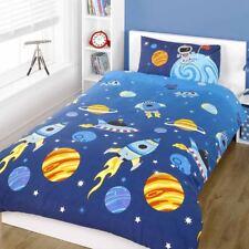 azul cohete Funda de almohada y Edredón Individual – Niños Juego cama