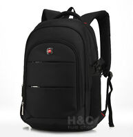 "Travel Hiking Rucksack Shoulder Swiss Notebook 15 17"" Laptop Backpack School Bag"