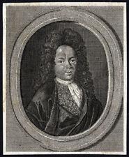 Antique Print-UNKNOWN PORTRAIT 8-c. 1720