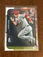 2015 Bowman Baseball Base Card - Mike Trout - Los Angeles Angels