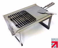 Volcann Portable Flat Pack Fire Pit Charcoal BBQ & Cooktop - Fishing Hiking