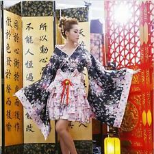 Kimono Japanese Lolita Maid Uniform Outfit Anime Cosplay Costume New Dress L