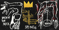"""Jean Michel Basquiat Print on Canvas  Abstract art wall decor sale Spine 24x48"""""""
