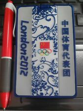 2012 LONDON OLYMPIC CHINA NOC BLUE AND WHITE CHINA BAGGAGE TAG