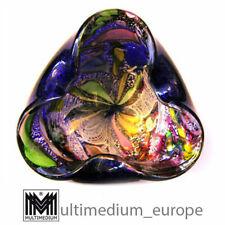Aureliano Toso Dino Martens Murano Glas Aschenbecher Silberfolie