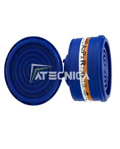 2 Filtros A Cartucho 2040 A2P3 R Att. Dupla Semimascher Protección spasciani