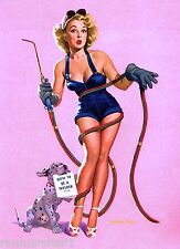1940s Pin-Up Girl How to be a Welder Picture Poster Print Vintage Art Pin Up