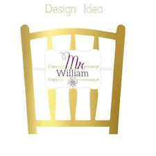 """Premium Personalised Mr & Mrs cardboard Chair Markers 7x5"""" with Clear Elastic"""
