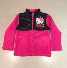 NWT~~HELLO KITTY Black/Hot Pink Girl's Fleece Jacket~~Size 4